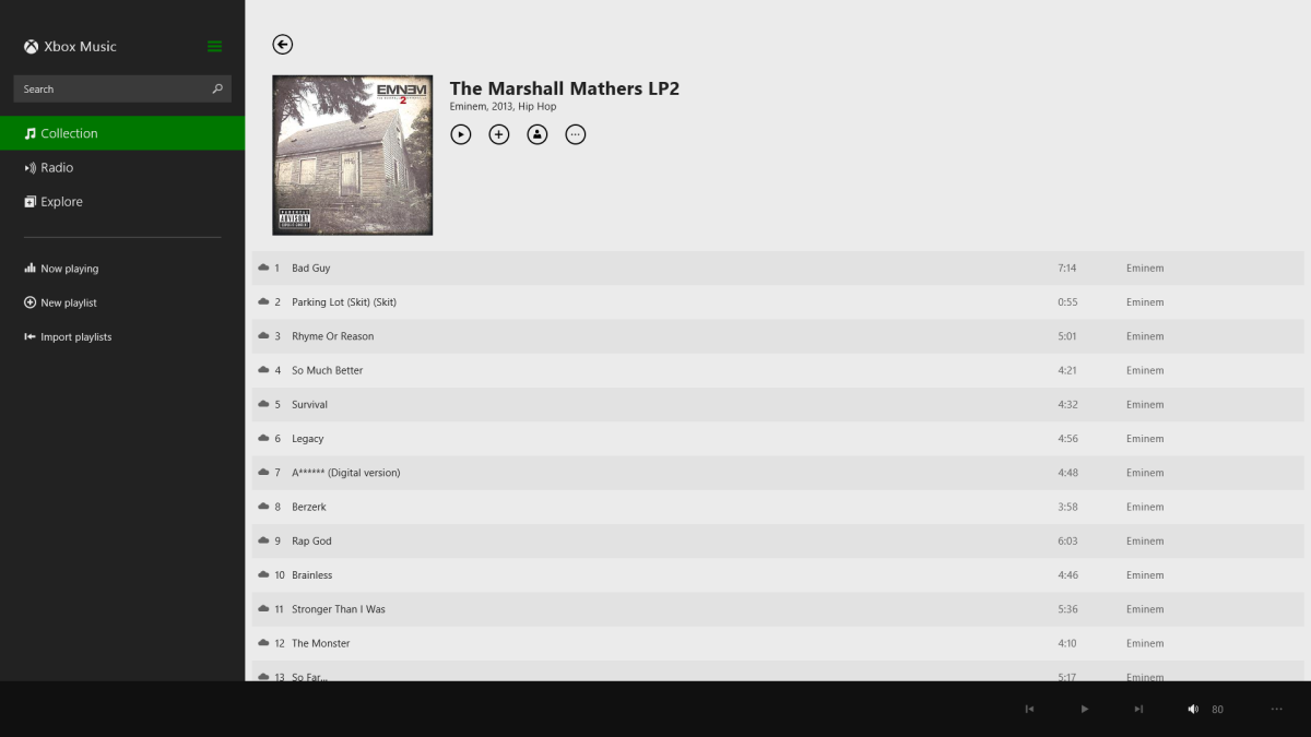 Free music from Xbox Music :)