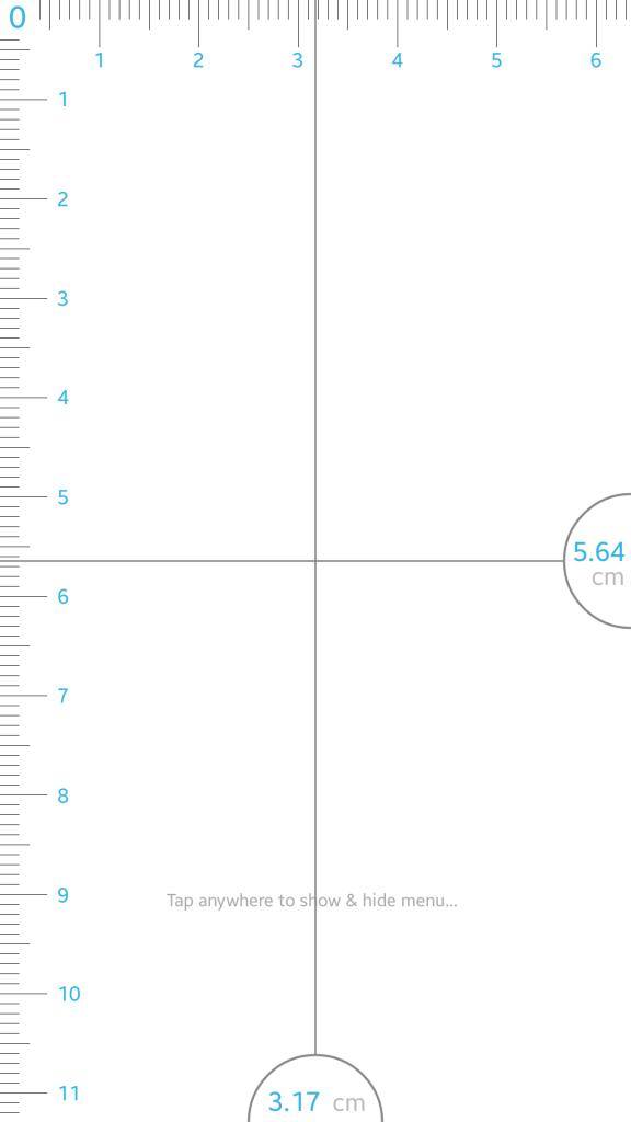 Ruler on my Samsung Galaxy S5.