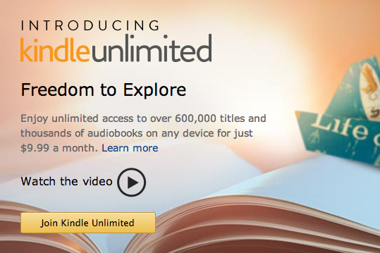 "Amazon is testing ""Kindle Unlimited,"" an ebook subscription service for $9.99/month"