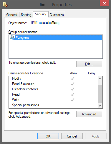 What your folder permissions should look like.