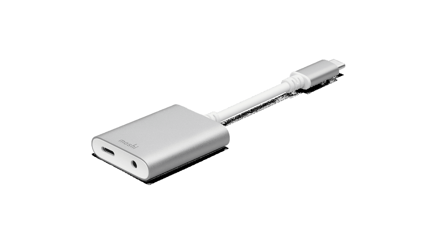 Yes, the Moshi USB-C Digital Adapter with Charging works with the HTC U11 & Moto Z2 Force